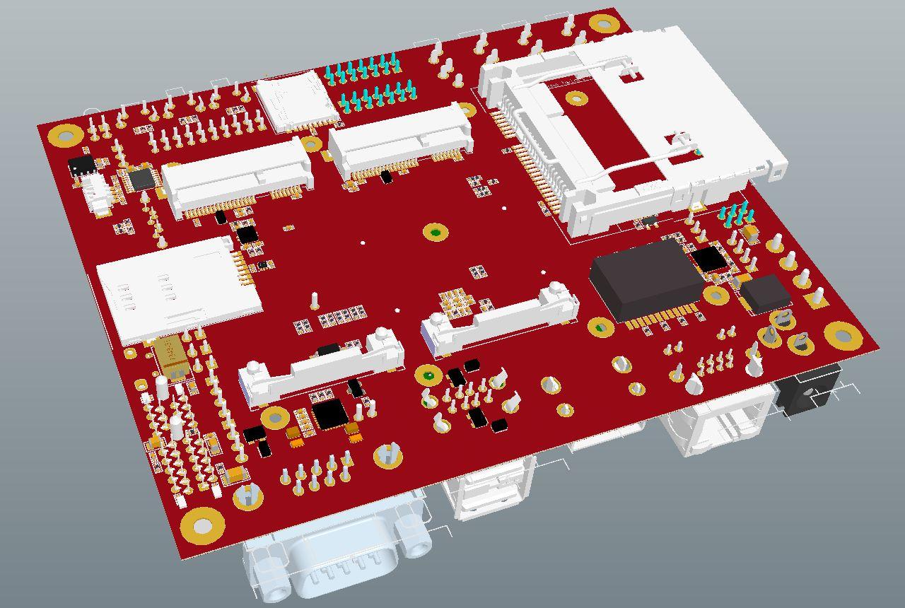 iMX6 Development Baseboard - Bottom