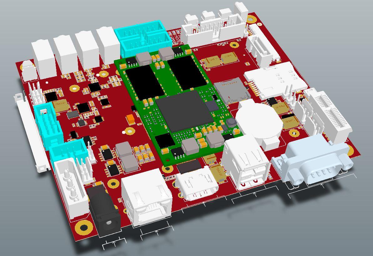 iMX6 Development Baseboard - Top