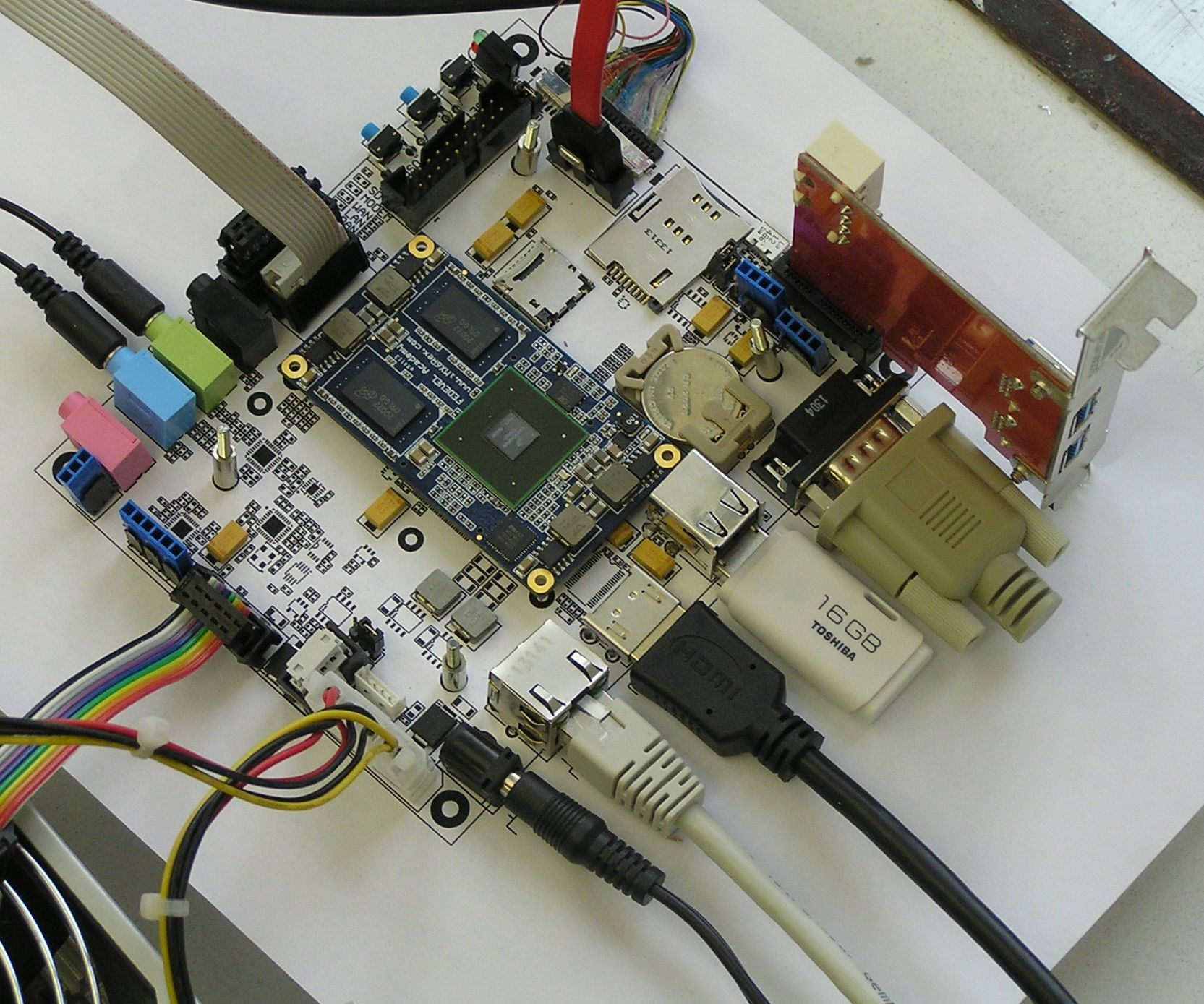 iMX6 Rex Development Baseboard - Paper PCB - No Heatsink