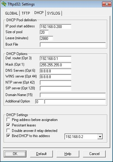 DHCP addresses