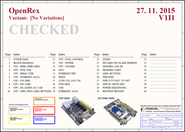 OpenRex Schematic Screenshot