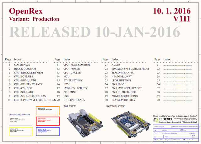OpenRex - Open Source Hardware Project - iMX6 Rex Projects