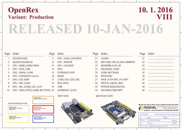 OpenRex Schematic Screenshot