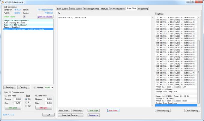 PMIC GUI Application PWRON high
