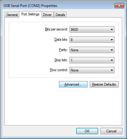 Enviromental-chamber-setup-Control-PC-COM-Port-Settings