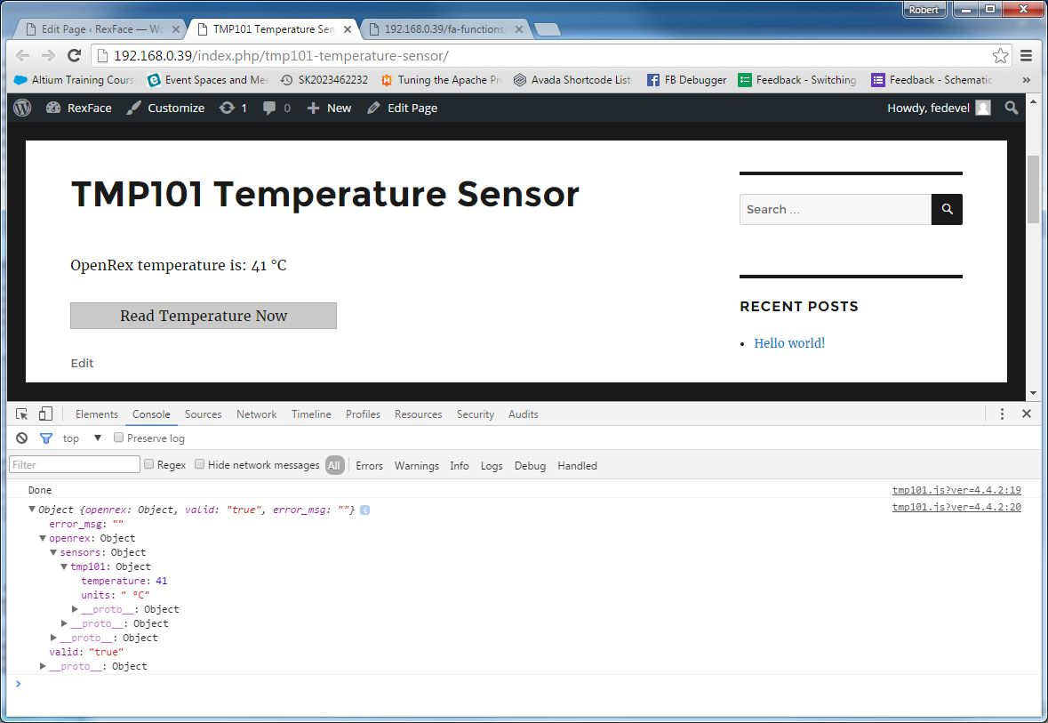 tmp101 response - accessing sensor - 41 celsius