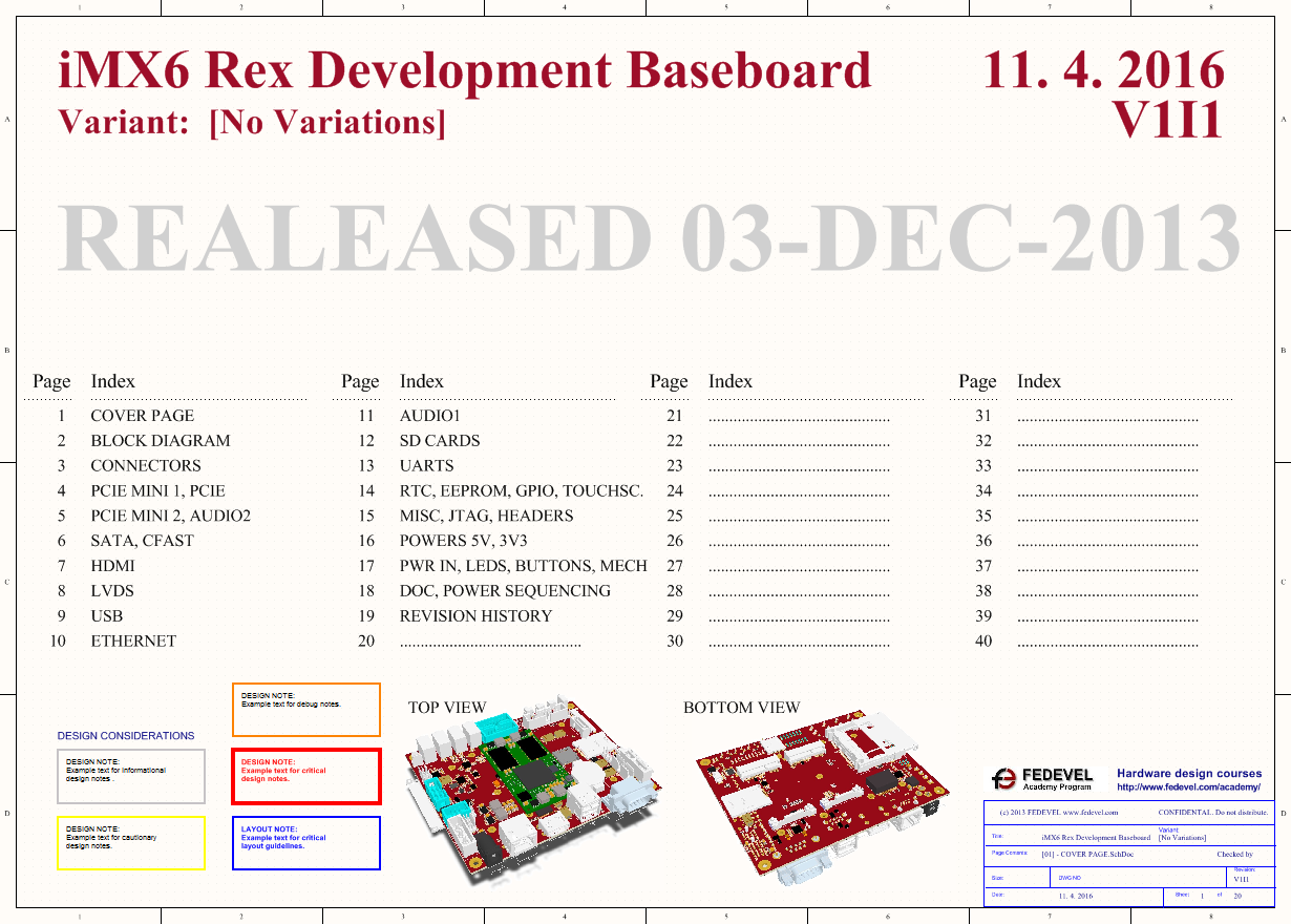iMX6 Rex Development Baseboard - Schematic