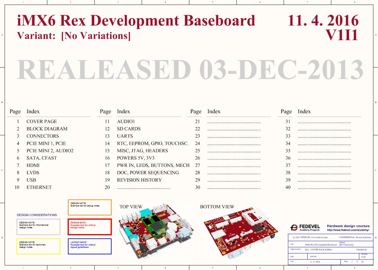 iMX6 Rex Development Baseboard - Schematic