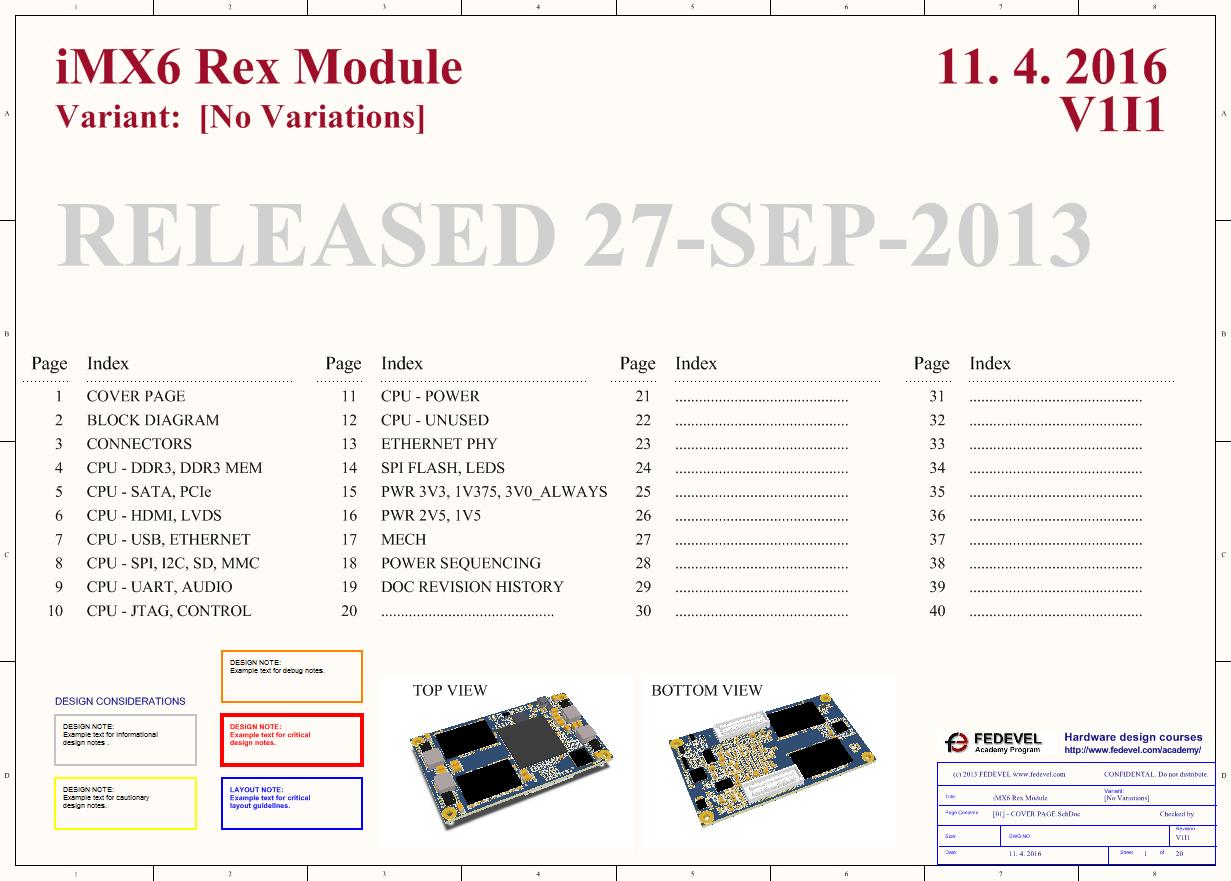 iMX6 Rex Module - Schematic